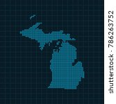map of michigan | Shutterstock .eps vector #786263752