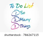 so many things in to do list ... | Shutterstock .eps vector #786267115