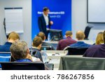 people attend business... | Shutterstock . vector #786267856