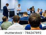 people attend business... | Shutterstock . vector #786267892