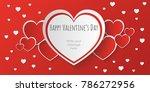 happy san valentine day banner...   Shutterstock .eps vector #786272956