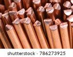 close up copper wire raw...