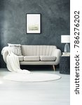 beige sofa with a decorative...   Shutterstock . vector #786276202