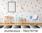 blue plastic rocking chair with ... | Shutterstock . vector #786278758