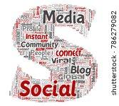 vector conceptual social media... | Shutterstock .eps vector #786279082