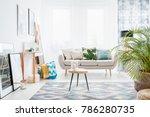bright white living room...   Shutterstock . vector #786280735