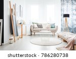 minimalistic boho bedroom... | Shutterstock . vector #786280738