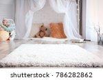 soft fluffy carpet in child room | Shutterstock . vector #786282862