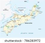 nova scotia road vector map ... | Shutterstock .eps vector #786283972