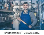 worker man showing his... | Shutterstock . vector #786288382