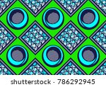 textile fashion african print... | Shutterstock .eps vector #786292945