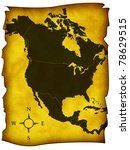 map of north america | Shutterstock . vector #78629515