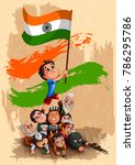 happy republic day of india... | Shutterstock .eps vector #786295786