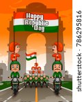 happy republic day of india... | Shutterstock .eps vector #786295816
