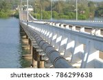 view of white bridge crossing a ... | Shutterstock . vector #786299638