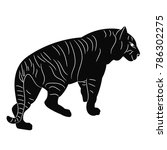 silhouette tiger is coming   Shutterstock .eps vector #786302275