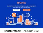 finance concept for web page ... | Shutterstock .eps vector #786304612