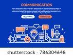 communication concept for web... | Shutterstock .eps vector #786304648