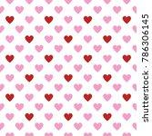 valentine cute heart pattern | Shutterstock .eps vector #786306145
