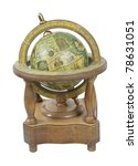 old world wooden globe with...   Shutterstock . vector #78631051