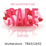 valentines day sale background. ... | Shutterstock .eps vector #786312652