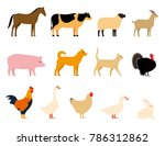 livestock  farm animals black... | Shutterstock .eps vector #786312862