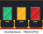 art gallery in the museum in... | Shutterstock .eps vector #786312952