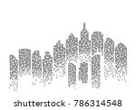 city skyline background vector... | Shutterstock .eps vector #786314548