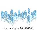 city skyline background vector... | Shutterstock .eps vector #786314566