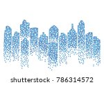 city skyline background vector... | Shutterstock .eps vector #786314572