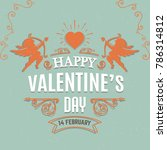 valentines day greeting card... | Shutterstock .eps vector #786314812