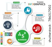 infographic template. chart.... | Shutterstock .eps vector #786317002