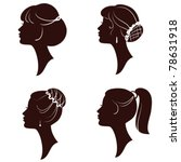hairstyles vector beautiful... | Shutterstock .eps vector #78631918