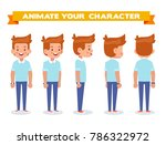young man for animation. front  ... | Shutterstock .eps vector #786322972