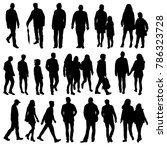 isolated silhouette people go  ... | Shutterstock .eps vector #786323728