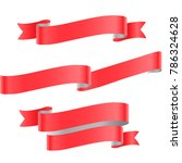red ribbon isolated on white... | Shutterstock .eps vector #786324628