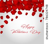 happy valentines day card with... | Shutterstock . vector #786324748