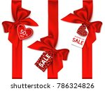 valentine's day sale tag.... | Shutterstock .eps vector #786324826