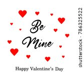 happy valentines day typography ... | Shutterstock . vector #786325522