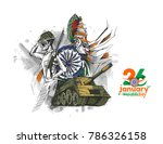 indian republic day concept... | Shutterstock .eps vector #786326158