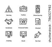 9 line icons