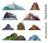 nature mountains set  variety... | Shutterstock .eps vector #786329608