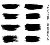 grunge ink brush strokes.... | Shutterstock .eps vector #786329752