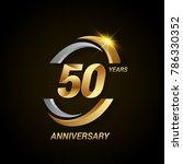 50 years anniversary... | Shutterstock .eps vector #786330352