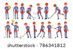 classic ice hockey player... | Shutterstock .eps vector #786341812