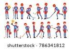classic ice hockey player... | Shutterstock .eps vector #786341812