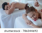 beautiful women relaxed with... | Shutterstock . vector #786344692