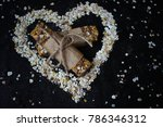 heart symbol from oatmeal on... | Shutterstock . vector #786346312