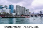 view to sydney from harbor | Shutterstock . vector #786347386
