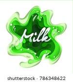 splashes of milk  background ...   Shutterstock .eps vector #786348622